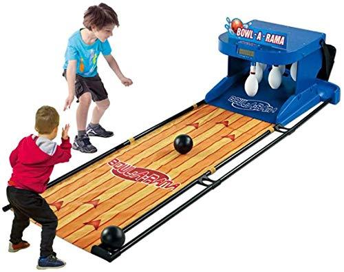 CN Cover Bowling-Set Für Kinder, Elektronisches Bowlingbahn-Spiel Für Kinder, 6,6 Fuß Zusammenklappbar, Elektronisches Bowlingbahn-Spiel, Indoor Outdoor Sportspielzeug Geburtstagsgeschenke