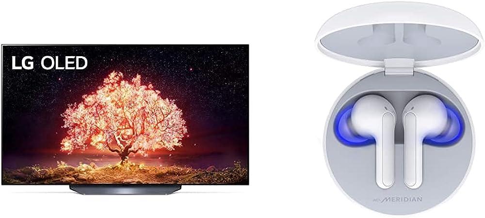 Lg smart tv 4k 77 pollici tv oled serie b1 2021 con processore 7 gen4 dolby vision piu` cuffie bianche LG OLED77B16LA.APID3