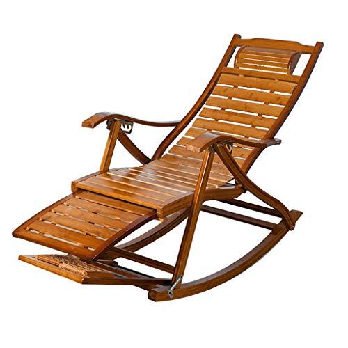 SjYsXm-Chaise longue Fauteuil à Bascule Pliable Fauteuil Relax Fauteuil Fauteuil réglable Fauteuil Rocker pour Personnes âgées avec Ballon massable (Couleur : A)