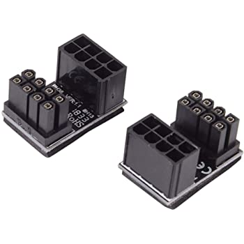 Vaorwne Atx 8pin Male 180 Degree Angled To 8pin Female Power For Desktops Image Card