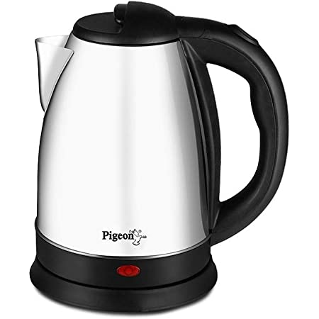 Pigeon by Stovekraft Amaze Plus Electric Kettle with Stainless Steel Body, 1.5 litres boiler for Water, instant noodles, soup etc.