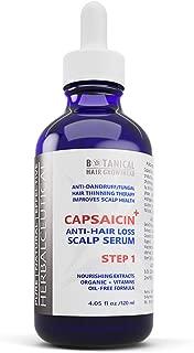 Botanical Hair Growth Lab Hair Loss Serum DHT Alopecia Treatment for Hair Growth CAPSAICIN+ Oil-Free Formula - Caffeine, Niacin, Hyaluronic Acid - Hair Loss Prevention for Men and Women 4 Fl Oz
