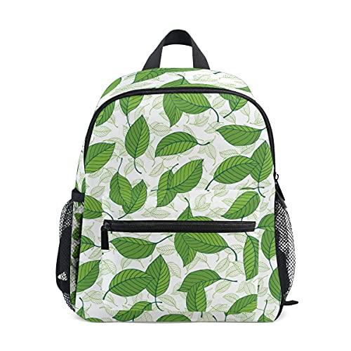 VJSDIUD Sac à dos Stevia Leaves Green Pattern Print Sacs d'école Boy Girl Daypack
