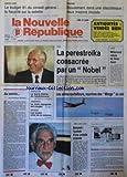 NOUVELLE REPUBLIQUE (LA) [No 13992] du 16/10/1990 - EBOULEMENT DANS UNE DISCOTHEQUE / 2 MACONS BLESSES - PAIX / LA PERESTROIKA CONSACREE PAR UN NOBEL / MIKHAIL GORBATCHEV - LIBAN / MITTERRAND REFUSE DE LIVRER AOUN - AU MERITE PAR GERBAUD - LE LOURD DOSSIER DE L'ENDETTTEMENT DE L'AGRICULTURE - FRANCE-ARABIE SAOUDITE / LES AVIONS -RAVITAILLEURS - NOURRICES DES MIRAGE DU CIEL - WEST SIDE STORY / BERNSTEIN / L'AUREOLE D'UNE COMEDIE MUSICALE ET LEONARD BERNSTEIN