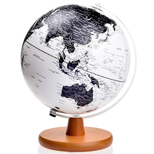 JUNYYANG Globo, Diámetro 8in Vintage Globe Globe Mapa Mundial Giratorio de la Tierra Atlas Geografía Estudiantes Regalos, Decoración educativa/Moderna de Escritorio (Blanco) Globos del Mundo