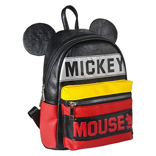 ARTESANIA CERDA Mochila Casual Moda Mickey, Unisex Adultos, Negro (Negro), 11x25x22 cm (W x H x L)
