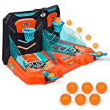 ONDEKT Mini Basketball Shooting Game – 2 Player Compact Desktop Toy – Score Counter - Desktop Arcade Games for Age 3+ – Exciting Fun – Tabletop Game - Ideal Gift for Children - Stress Relief
