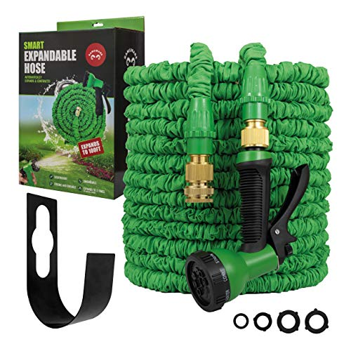 Ramsware Smart Expandable Garden Hose 100FT - Flexible Water Hoses -...