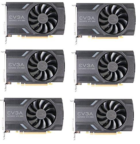 6 pack of EVGA GTX 1060 6GB Single Fan Mining GPUs