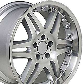 OE Wheels 18 Inch Fits Mercedes Benz - C E S Class SLK CLK CLS Silver Mach'd 18x9.5 Rim ET38 (REAR ONLY)