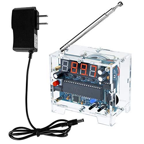 DIY Radio FM Receiver Kit - Seamuing von Digitalradio 76MHz-108MHz Einstellbarer Drahtloser Empfänger Lautsprecher 5V Netzteil Einfach zu Montieren Für Anfänger Im Löt- und Familienunterricht