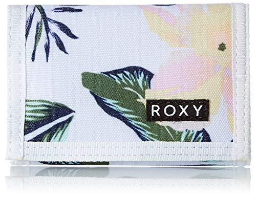Roxy Cartera Plegable para Mujer pequeña para Accesorios de Viaje., Color Blanco Brillante., Talla única