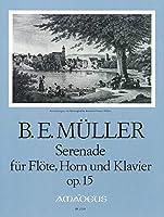 MULLER B. - Serenata Op.15 para Flauta, Trompa y Piano (Partitura/Partes)
