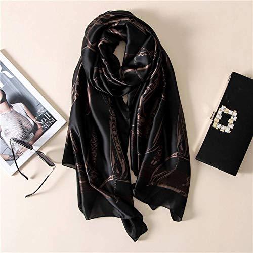 MYTJG Lady sjaal mode bandana zijden sjaal vrouwen sjaal voor vrouwen sjaal hoge kwaliteit print Hijab wrap 180 * 90 cm