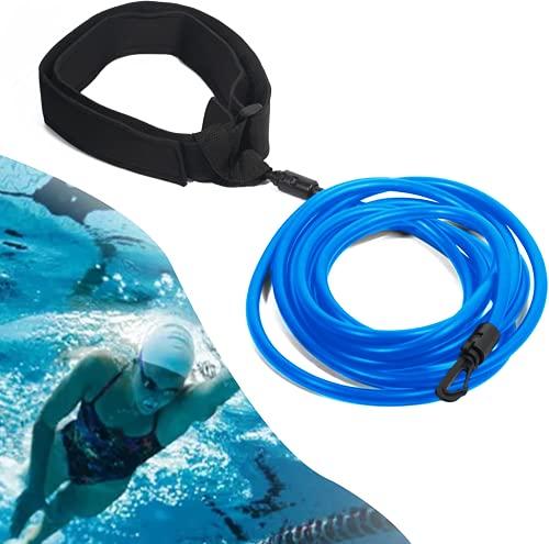 Yidaxing Cintura da Nuoto Piscina Regolabile Cintura da Allenamento Cintura di Resistenza Nuoto Elastico da Nuoto Cintura da Allenamento Corda Allenamento Elastica con Fitness, Allenamento, Sport