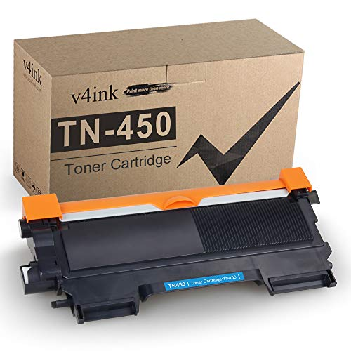 v4ink Compatible Toner Cartridge Replacement for Brother TN450 TN420 Black Toner Cartridge High Yield Use for HL-2240d HL-2270dw HL-2280dw MFC-7360n MFC-7860dw IntelliFax 2840 2940 Printer (Black)