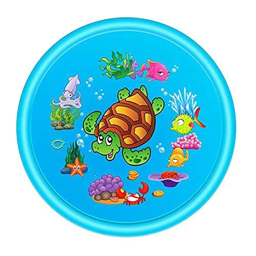 chlius Splash Pad, rociador de 110 cm para niños, tapete de juego con exquisito patrón, para verano al aire libre, piscina, patio trasero, juguetes divertidos para niños de más de 12 meses