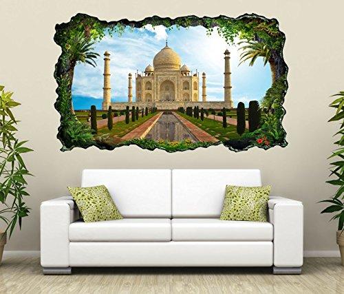 3D Wandtattoo tadsch mahal Skyline Indien Palast selbstklebend Wandbild Wandsticker Wohnzimmer Wand Aufkleber 11O1105, Wandbild Größe F:ca. 97cmx57cm