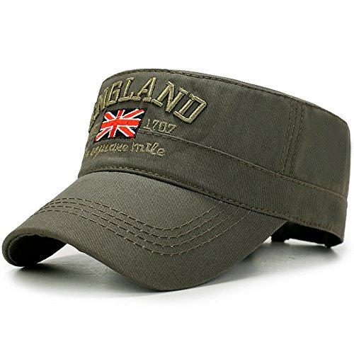 Yooeen Yooeen Military Army Cap Herren Vintage Militär Mütze Verstellbar Armymütze Baumwolle Baseball Cap Kappe mit Gute Qualität Stickerei Kopfumfang 56-62 cm