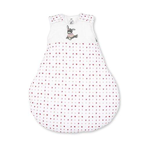 Sterntaler Schlafsack für Babys, Reißverschluss und Knöpfe, Größe: 62/68, Emmi Girl, Weiß/Rosa