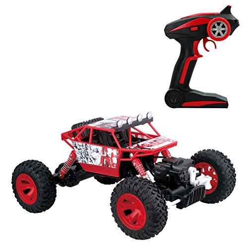 ColorBaby - Coche 4x4 teledirigido 1:18 Rock Rover, Rojo(85285)