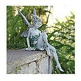 Taloit Garten Ornament Sitzen Magische Fee, Tudor Und Turek Sitzen Fee Statue Garten Ornament Harz Handwerk Landschaftsbau Hof Dekoration