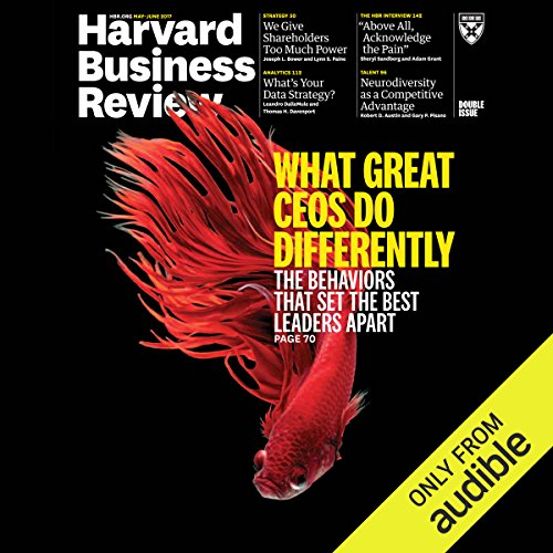 Harvard Business Review, May–June 2017                   By:                                                                                                                                 Harvard Business Review                               Narrated by:                                                                                                                                 Todd Mundt                      Length: 2 hrs and 37 mins     Not rated yet     Overall 0.0