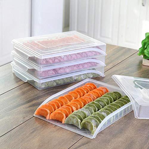 1 Bestel Plastic Lade voor Gehaktballen Enkele Laag Voedsel Container Afdichting Opbergdoos Container Groente Vriezer Koelkast Vers voedsel Opslag