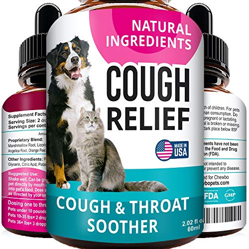 Kennel Cough Drops for Dogs and Cats - 2oz Pet Herbal Remedy - Throat Soother - Homeopathic Respiratory Support - Dry, Wet & Barky Pet Cough and Cat Asthma, Sinus Congestion Treatment - Made in USA
