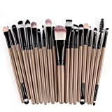 Doyeemei Cerdas sintéticas Cosmetics Makeup Brushes Kit Premium Colorful Foundation Blending Blush Eye Face Brush Powder Set de pinceles de maquillaje 20 piezas Style 01