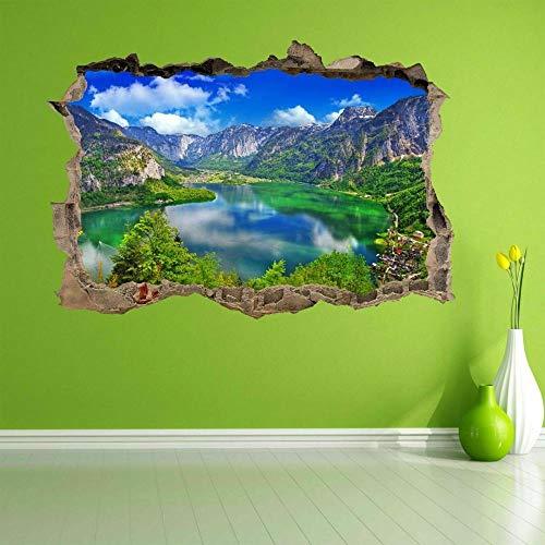 Wandtattoo Alpine Lake Mountain Sky Tree 3D Wall Art Sticker Mural Applique Home Decoration