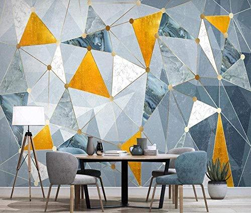 Las líneas geométricas doradas iluminan el papel pintado minimalista de lujo papel pintado no tejido Efecto Pared Pintado Papel tapiz 3D Decoración dormitorio Fotomural sala sofá mural-430cm×300cm