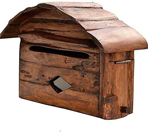 Buzón de correo montado en la pared Buzón de correo pastoral decoración buzón de periódicos caja de leche caja de sugerencia