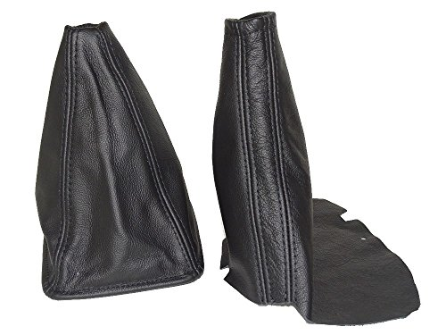 The Tuning-Shop Ltd for Toyota JZX Chaser 1996-2001 Shift & E Brake Boot Black Leather