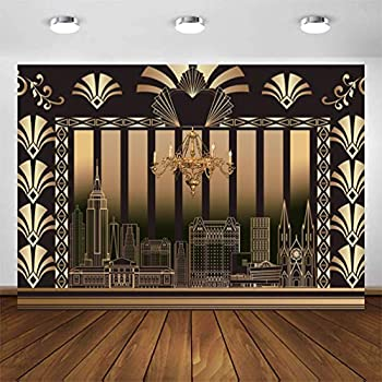 CYLYH 7x5FT The Great Gatsby Background 20s Party Art Decor Vintage Dance Birthday Wedding Party Decoration Adult Birthday Background D418