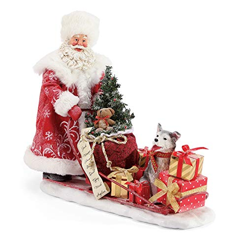 Department 56 Possible Dreams Santa Snow Buddies Figurine, 11 Inch, Multicolor