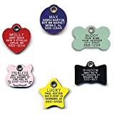 Durable Plastic Pet ID Tag, Outlasts Cheap Aluminum Tags for The Same Price, Custom Engraved, Large Red Round