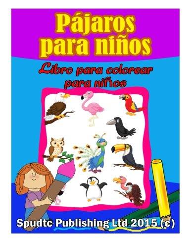 Loros Pájaros para niños: Libro para colorear para niños