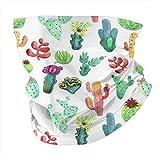 Lawenp Acuarela Vibrant Cactus Pañuelo para hombre Pañuelo facial Cuello facial para mujer