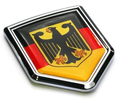 Car Chrome Decals CBSHD077 German Decal Germany Flag Car Chrome Emblem 3D Sticker Deutschland