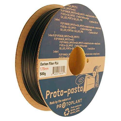 proto-pasta CFP11705l' originale in fibra di carbonio, bobina PLA 1.75mm, 500g, nero