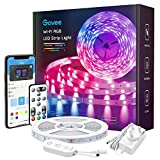 Govee Alexa LED Strip Lights, 5M Smart WiFi LED Strip Compatible with Alexa, APP and Remote Control, Upgraded Music Sync Color Changing RGB Strip Lights for Room, Kitchen, TV, Party