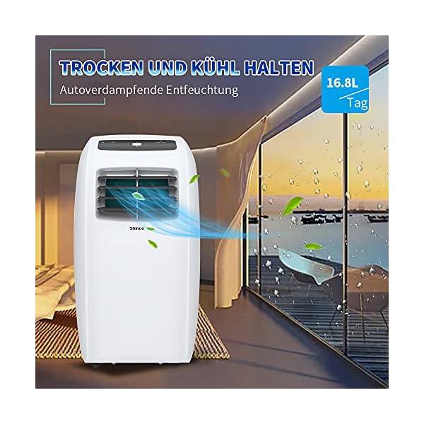 Shinco 7000BTU Condizionatore Portatile, 2,1kW, 3 in 1 con Tubo di Scarico, Raffreddamento, Deumidificazione e Ventilazione, Eco R290 5 spesavip