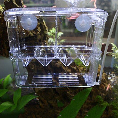 Zeer transparante zelfdrijvende multifunctionele vis drijvende vis aquarium hoedenmakerij doos dubbele laag vis tank fokken en ouderschap doos met live bak val