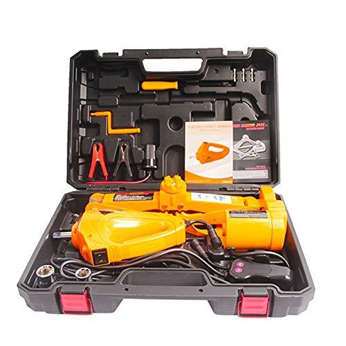 Levantador Hidraulico Gato Hidraulico Enchufe Eléctrico para Coche de Alta Potencia y 12 v de 100-150 W Gato de Tijera Eléctrico de 2-5 Toneladas con Llave Eléctrica (Color : Yellow, Size : 3t)