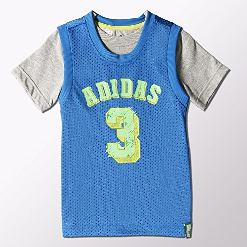 adidas Camiseta de Team, Infantil, BROYAL/MGREYH