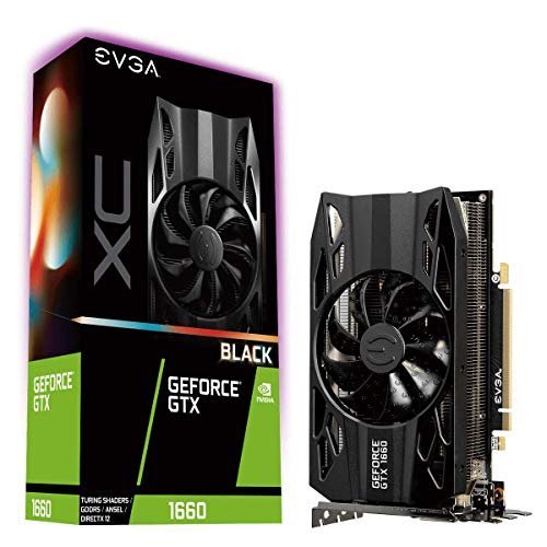 EVGA GeForce GTX 1660 XC BLACK GAMING, 06G-P4-1161-KR, 6GB GDDR5, HDB Fan
