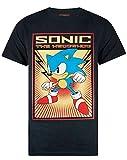 Negro Sonic el Erizo de la Propaganda impresin de los Hombres de la Camiseta