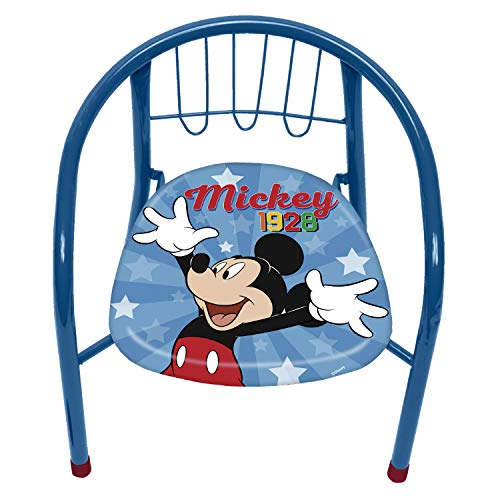 ARDITEX WD13013 Silla de Metal de 35.5x30x33.5cm de Disney-Mickey ✅