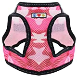 Pawtitas Pet Reflective Mesh Dog Harness, Step in or Vest Harness Dog Training Walking of Your Puppy/Dog - No More Pulling, Tugging, Choking M Neck 11' Chest 17', Pink Camouflage